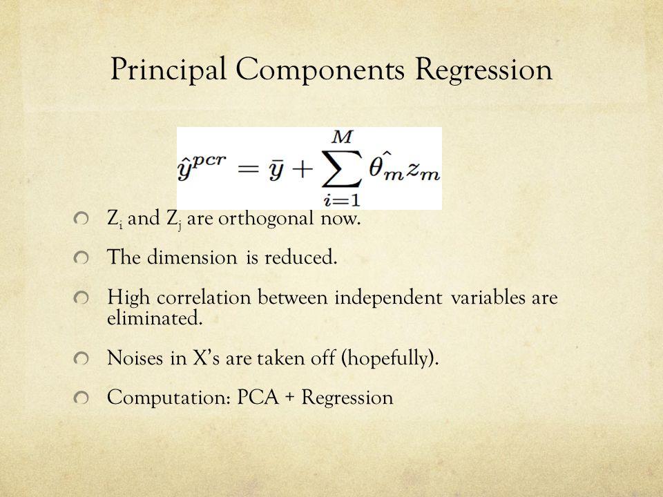 Principal Components Regression