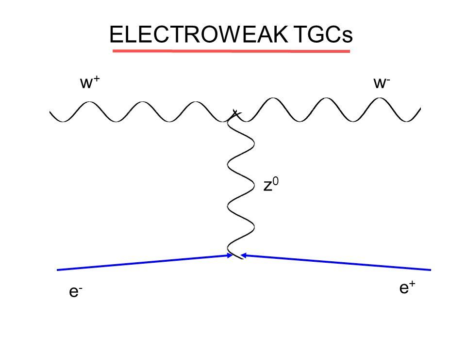 ELECTROWEAK TGCs w+ w- z0 e+ e-