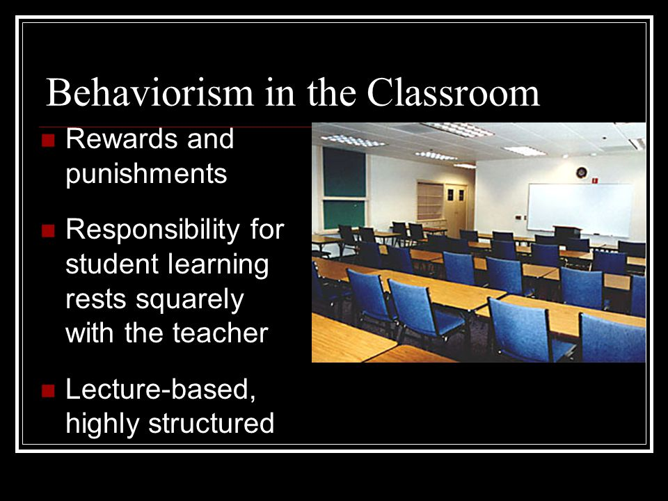 Behaviorism in the Classroom