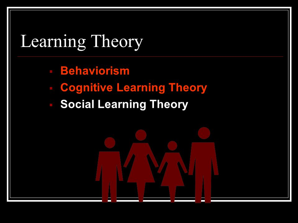 Learning Theory Behaviorism Cognitive Learning Theory