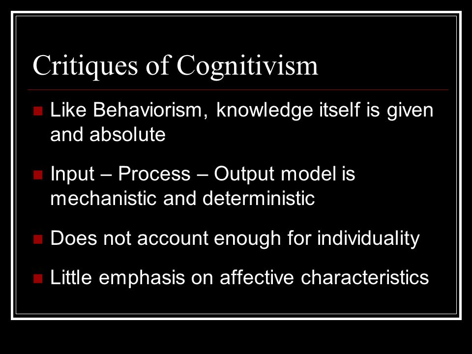 Critiques of Cognitivism