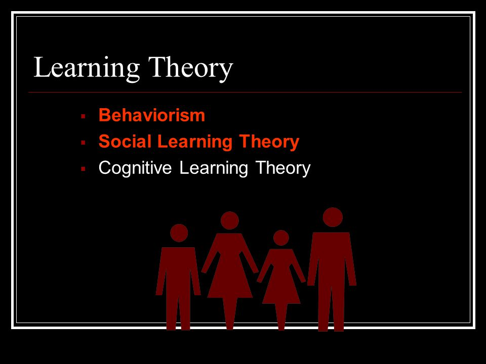 Learning Theory Behaviorism Social Learning Theory