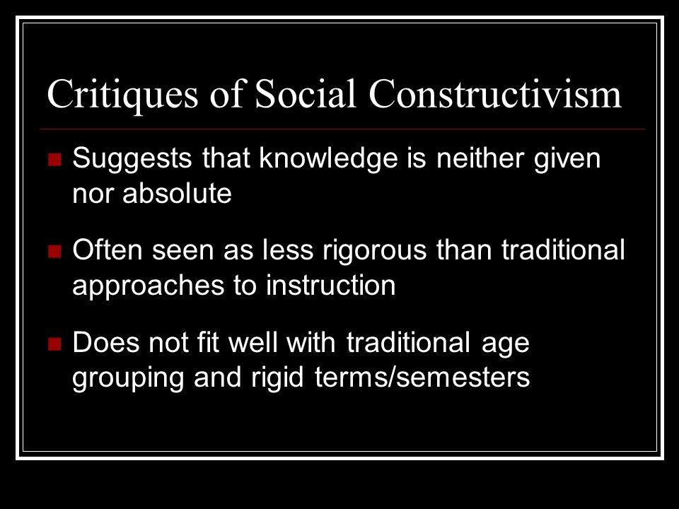 Critiques of Social Constructivism