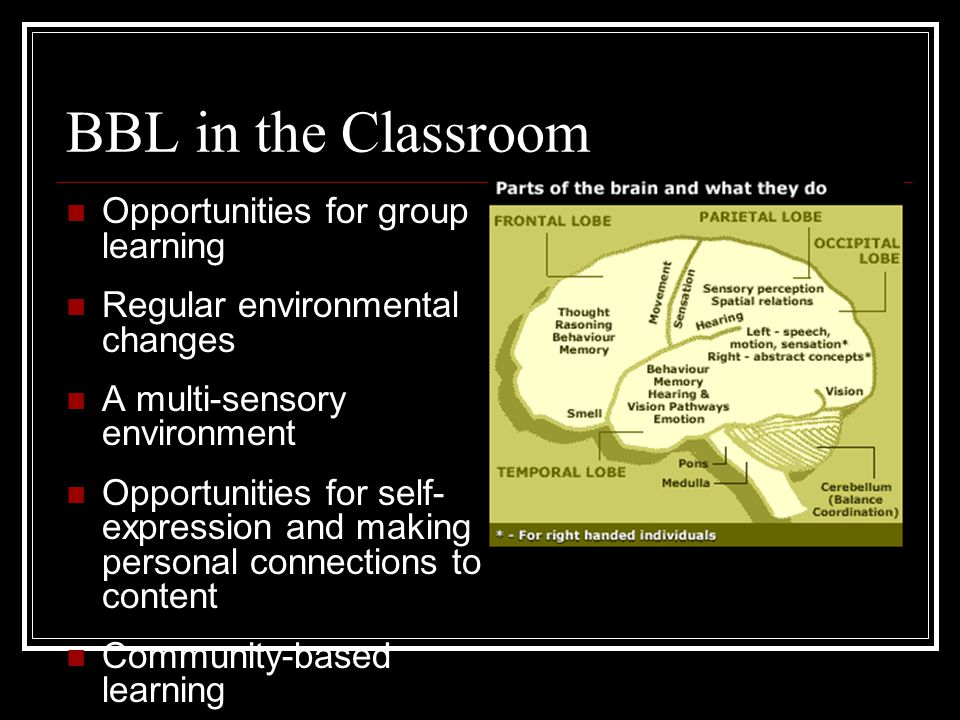BBL in the Classroom Opportunities for group learning