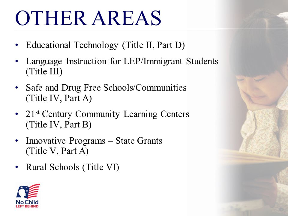 OTHER AREAS Educational Technology (Title II, Part D)