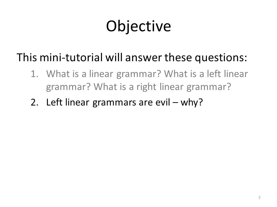 Objective This mini-tutorial will answer these questions: