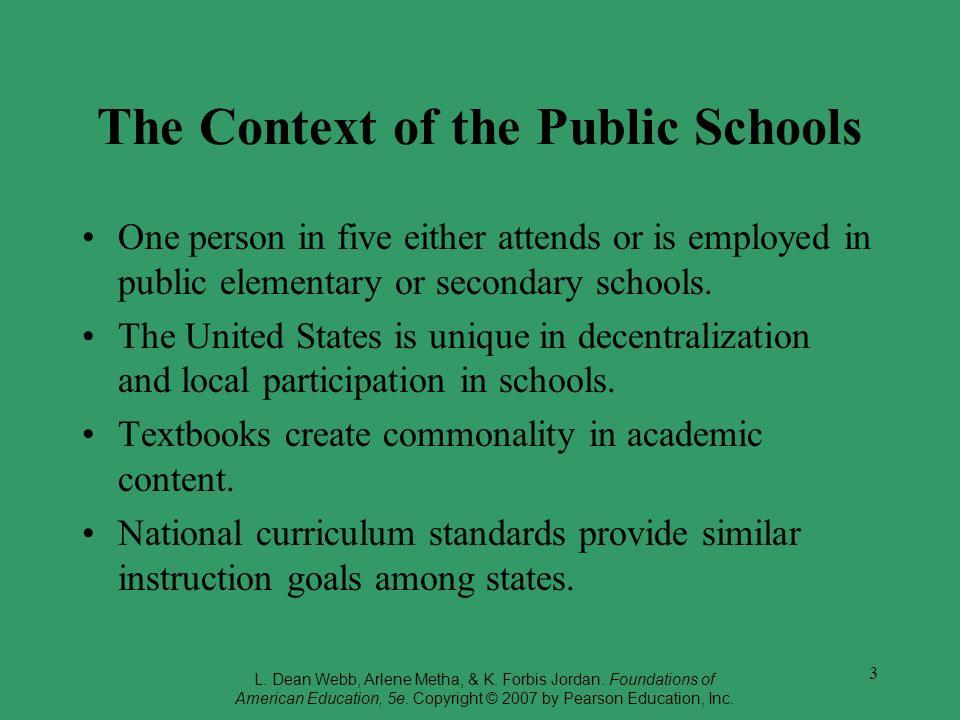 The Context of the Public Schools