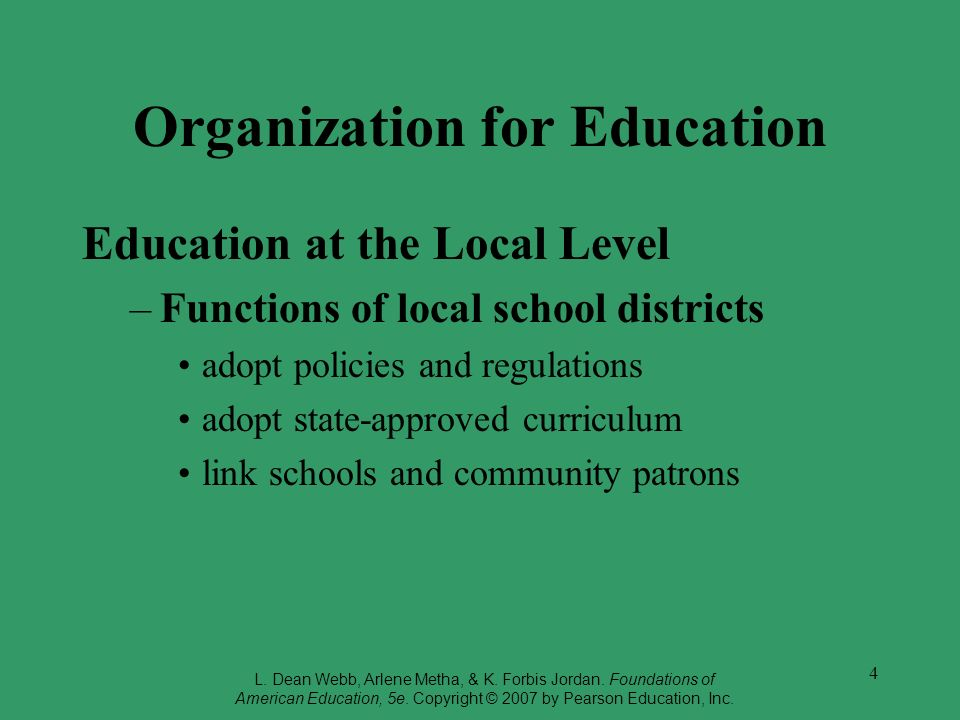Organization for Education