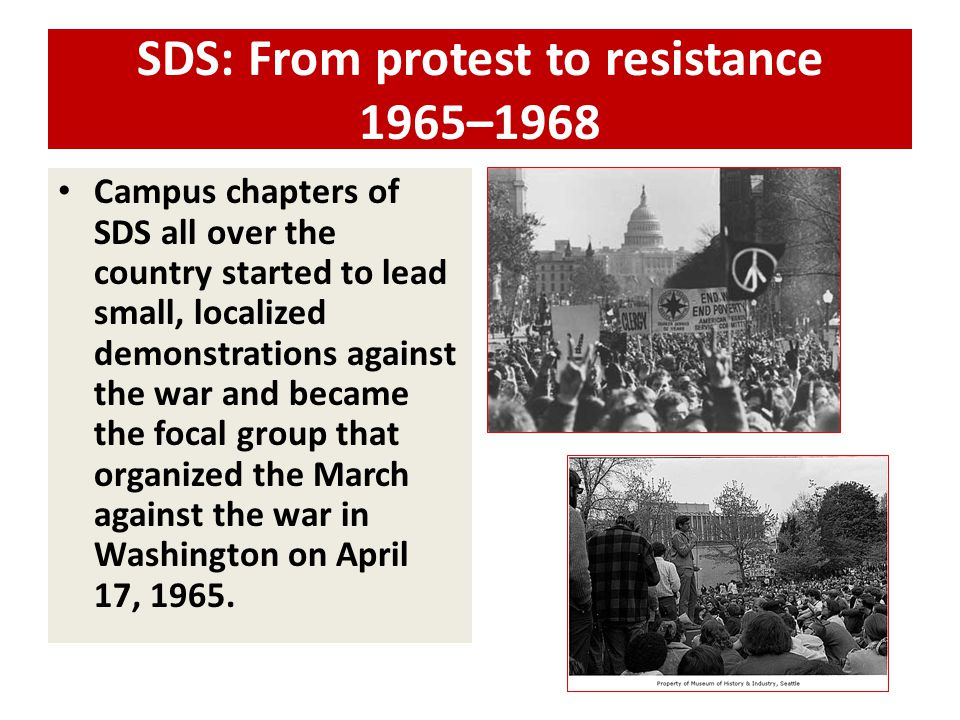 SDS: From protest to resistance 1965–1968