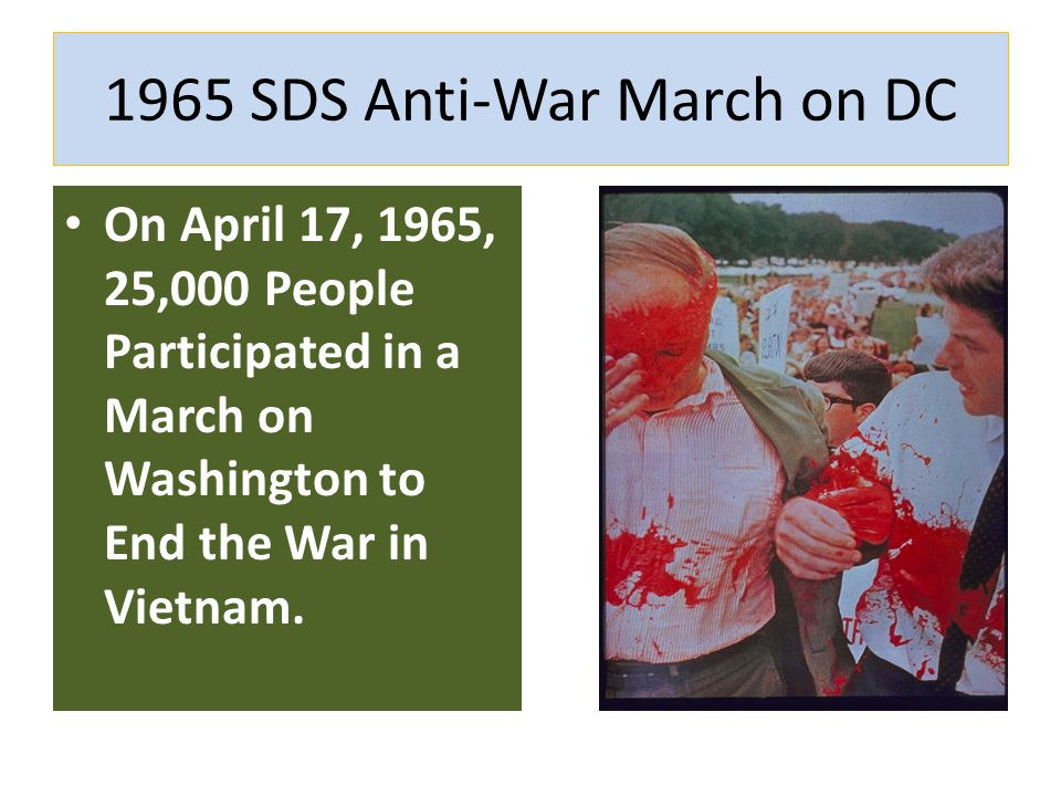 1965 SDS Anti-War March on DC