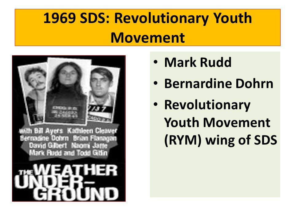 1969 SDS: Revolutionary Youth Movement