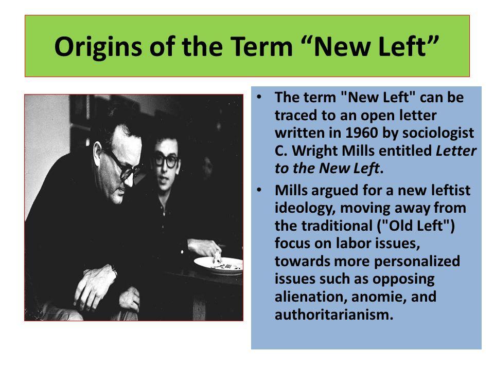 Origins of the Term New Left