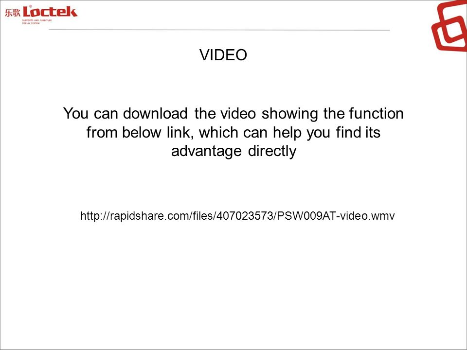 VIDEO You can download the video showing the function from below link, which can help you find its advantage directly.
