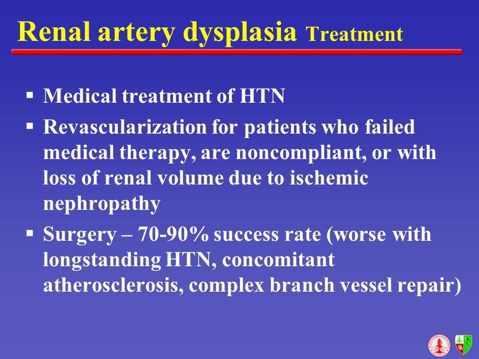 Renal artery dysplasia Treatment