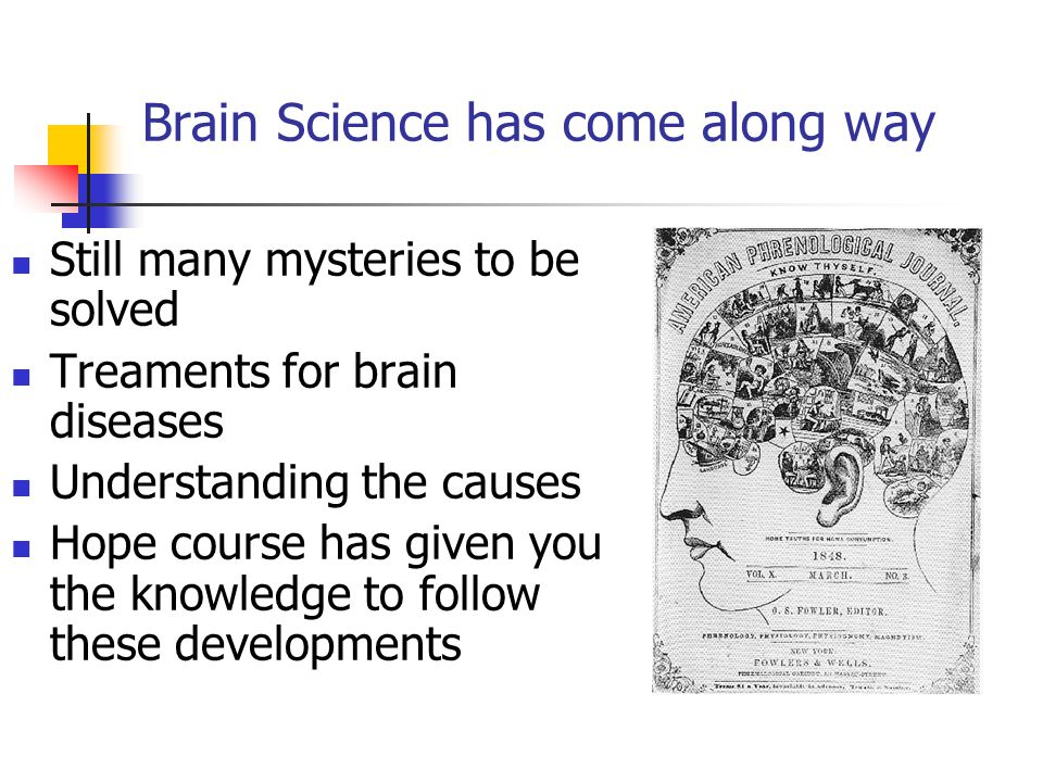 Brain Science has come along way