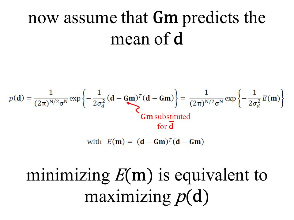 now assume that Gm predicts the mean of d
