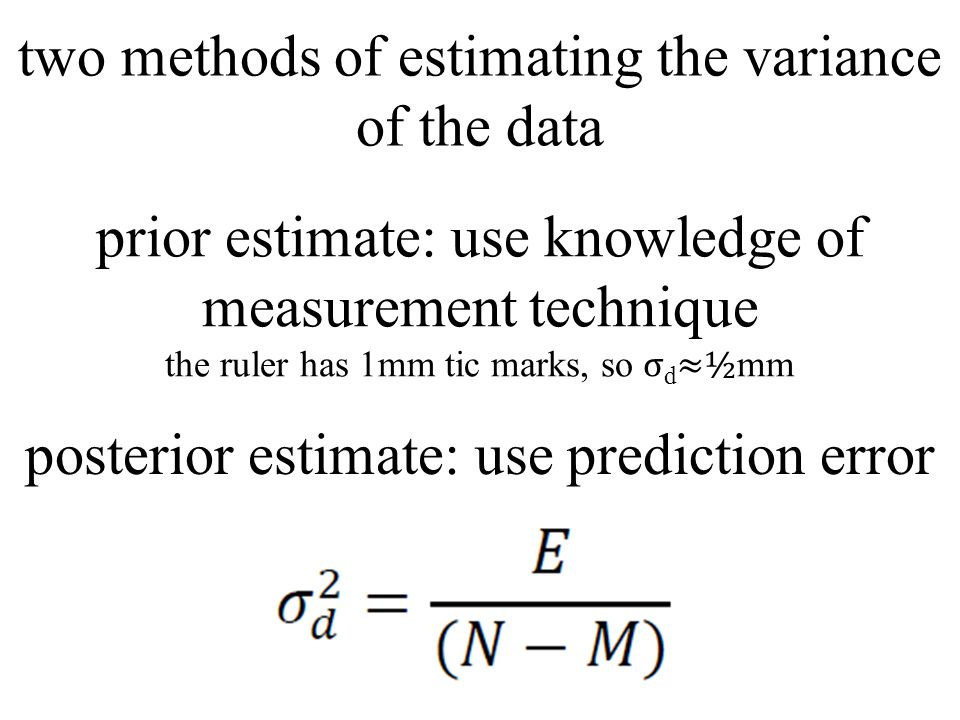 two methods of estimating the variance of the data