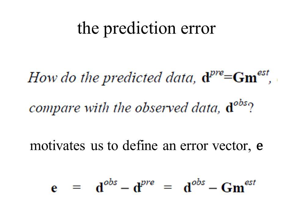 motivates us to define an error vector, e