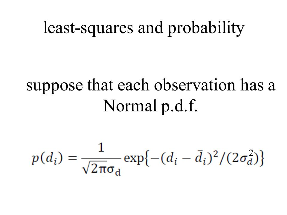 least-squares and probability