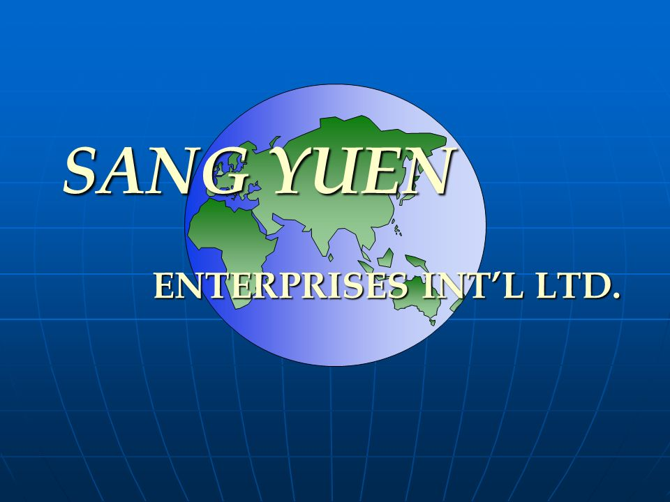 SANG YUEN ENTERPRISES INT'L LTD.