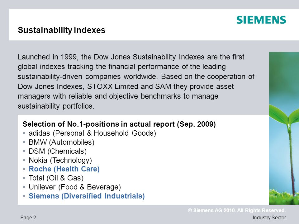 Sustainability Indexes