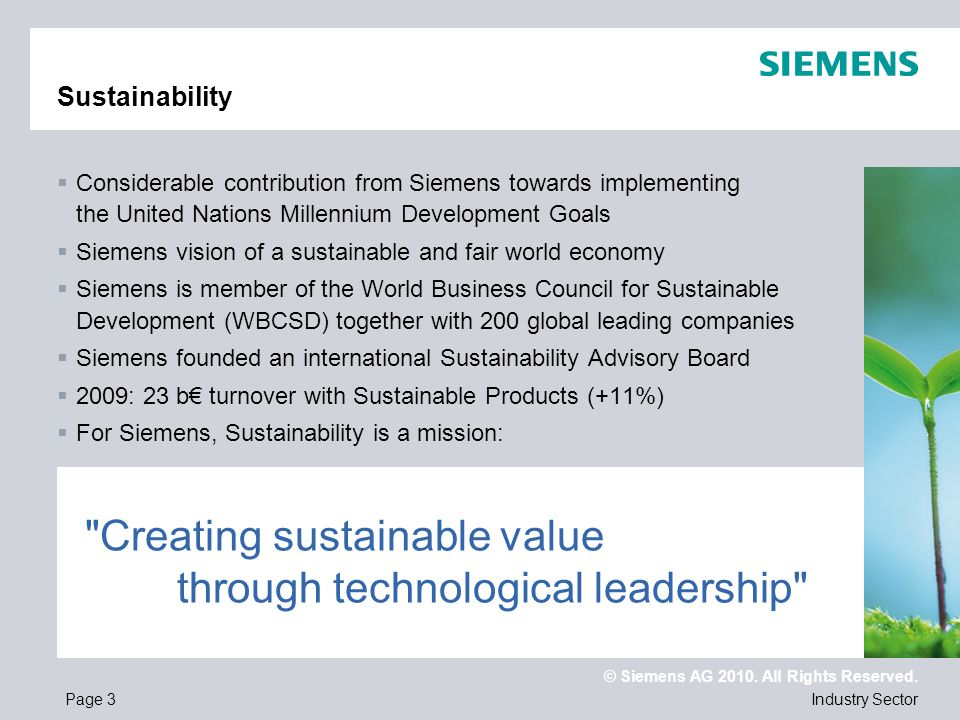 Creating sustainable value through technological leadership