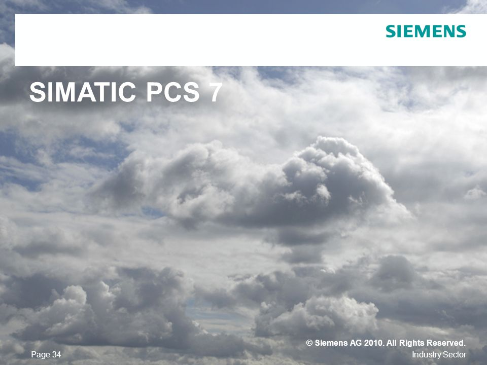 SIMATIC PCS 7 © Siemens AG All Rights Reserved. Page 34