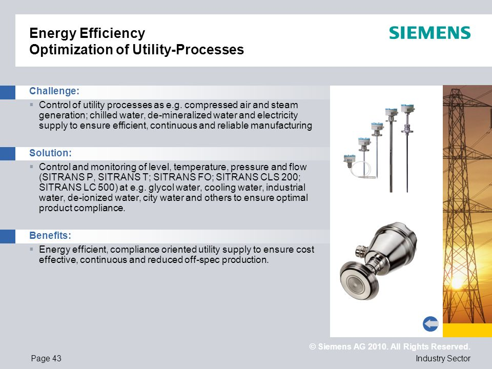 Energy Efficiency Optimization of Utility-Processes