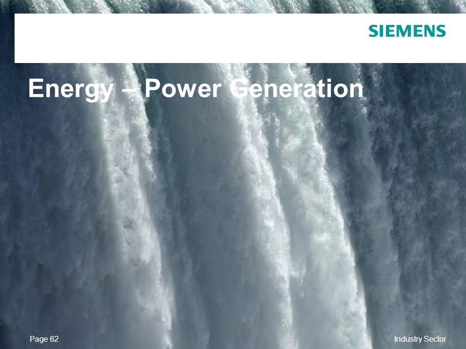 Energy – Power Generation