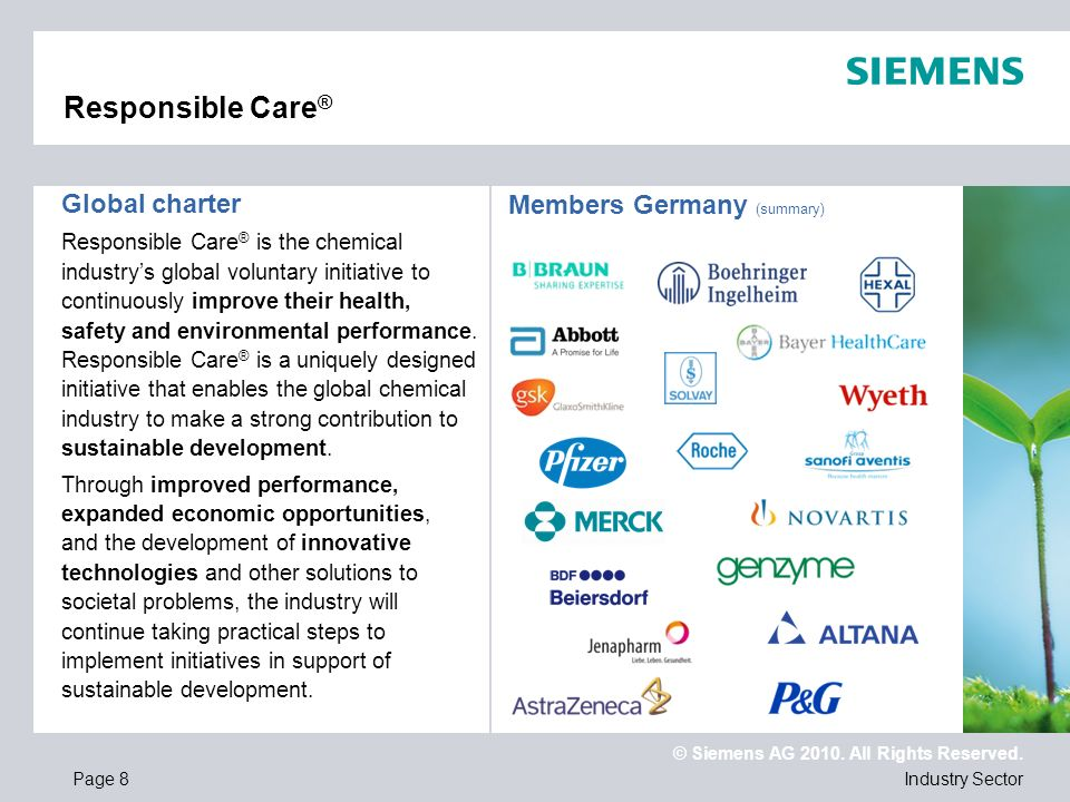 Responsible Care® Global charter Members Germany (summary)