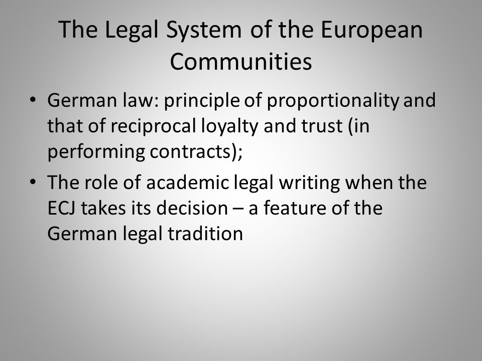 The Legal System of the European Communities