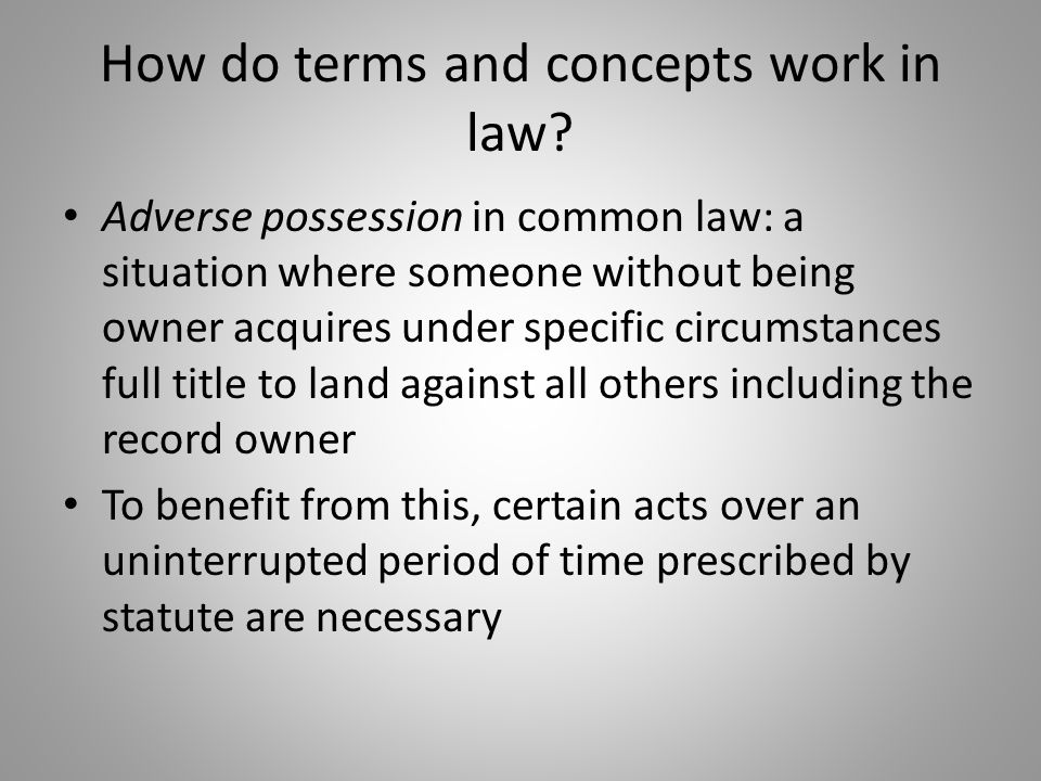 How do terms and concepts work in law