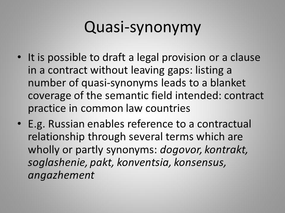 Quasi-synonymy