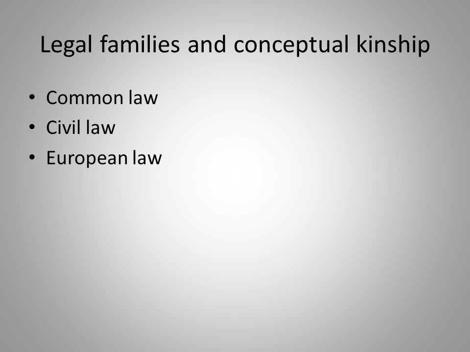 Legal families and conceptual kinship