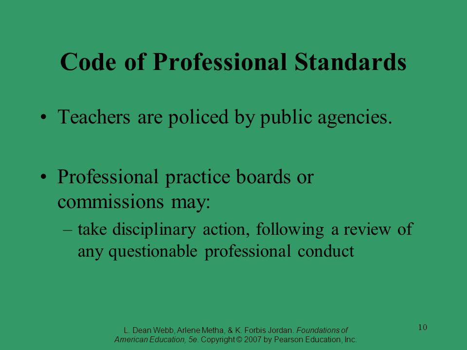Code of Professional Standards