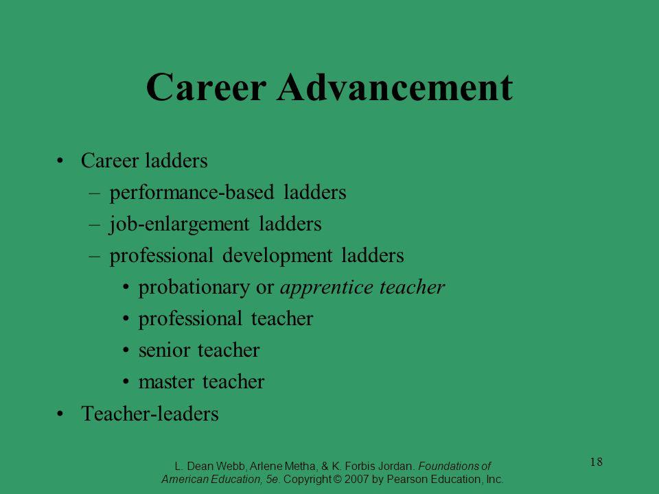 Career Advancement Career ladders performance-based ladders