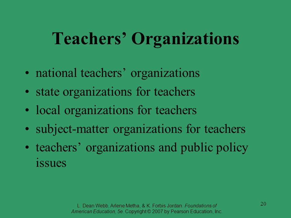 Teachers' Organizations