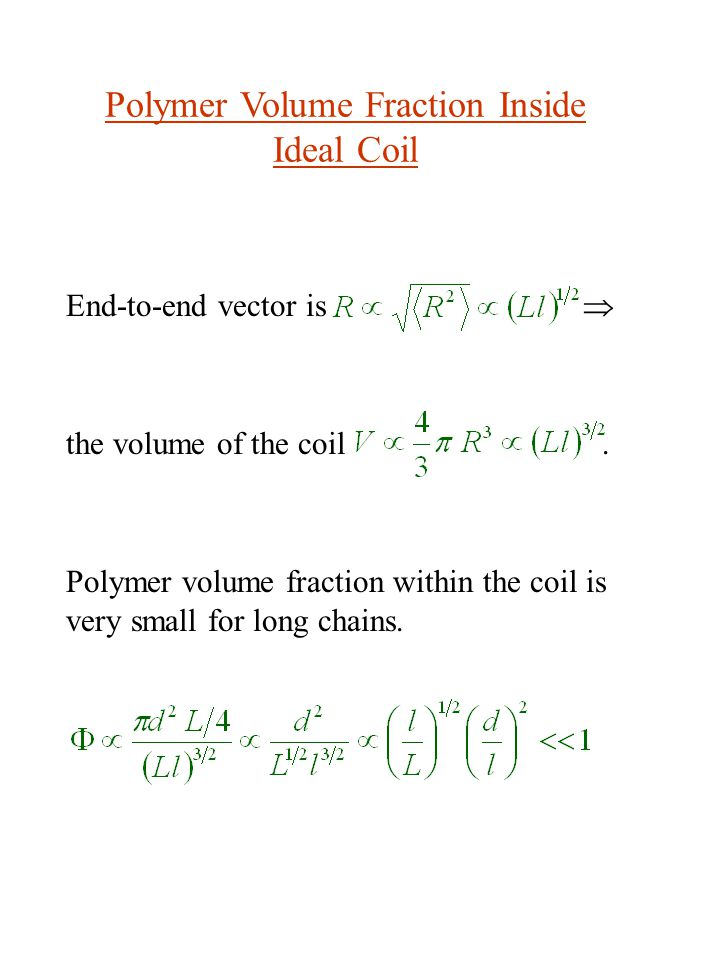Polymer Volume Fraction Inside Ideal Coil