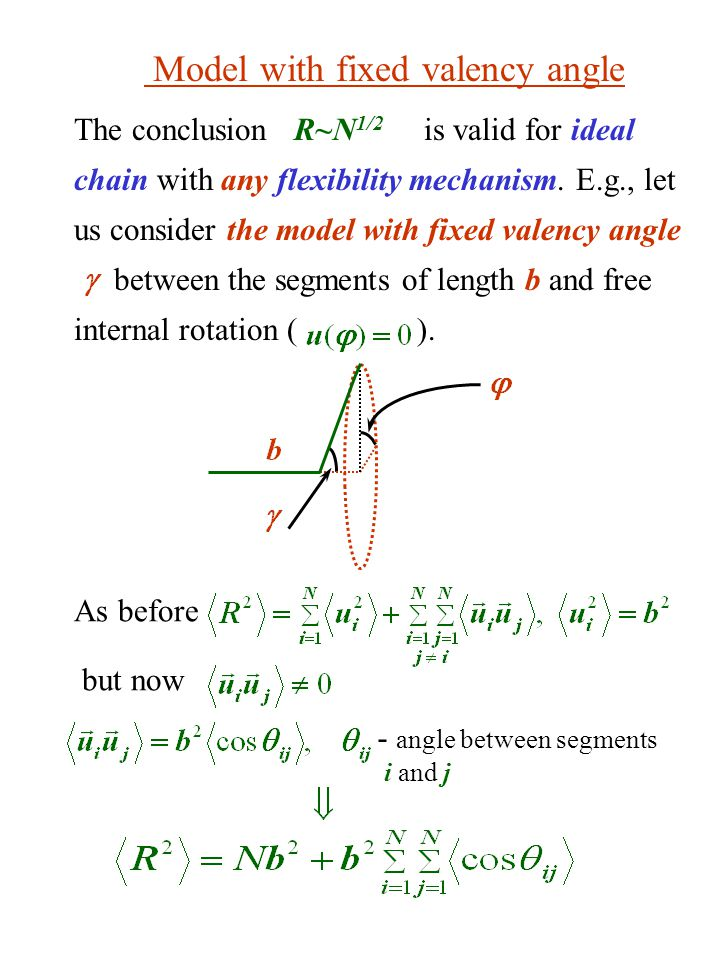 Model with fixed valency angle