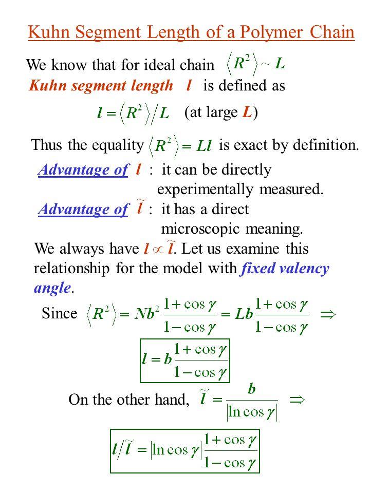 Kuhn Segment Length of a Polymer Chain