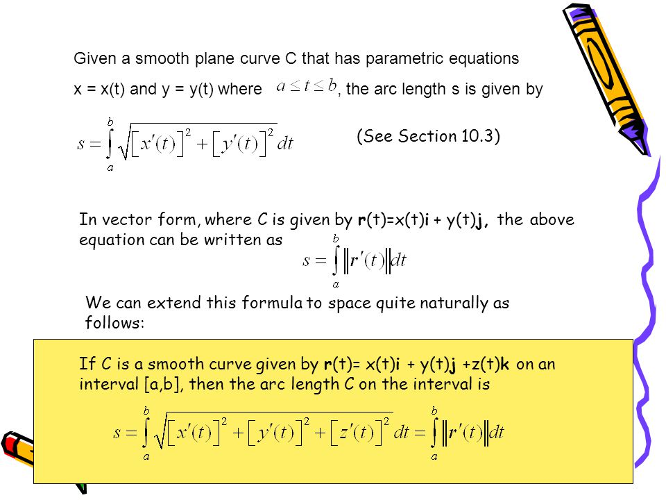 Given a smooth plane curve C that has parametric equations