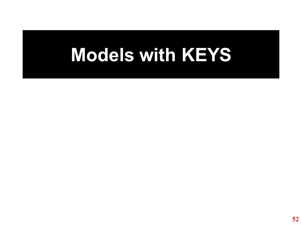 Models with KEYS