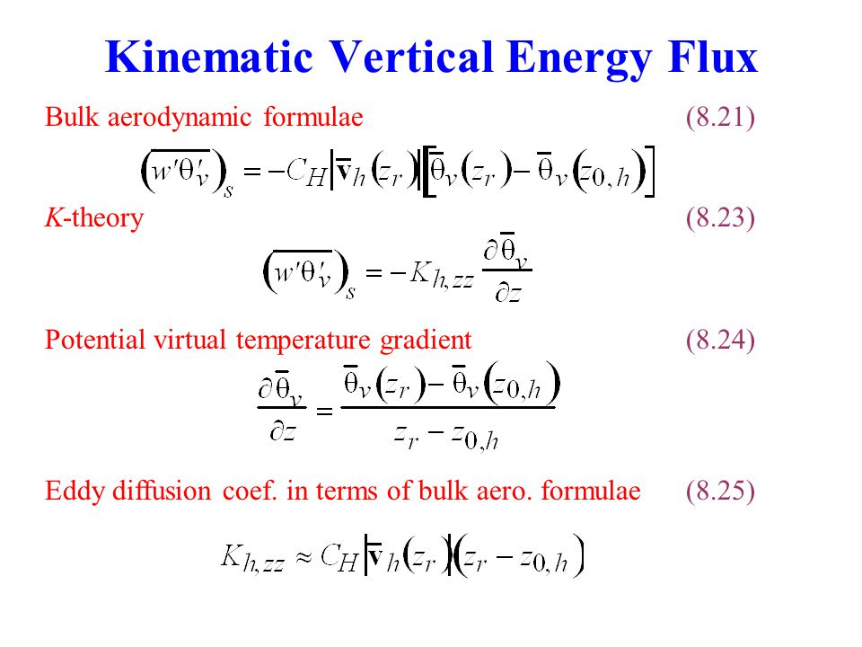 Kinematic Vertical Energy Flux
