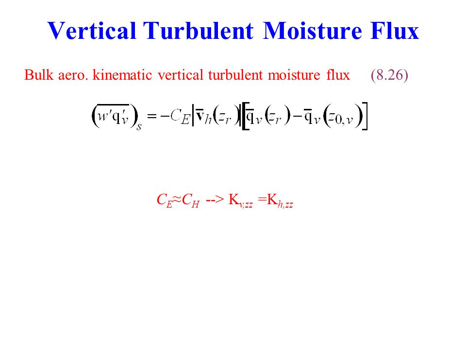 Vertical Turbulent Moisture Flux