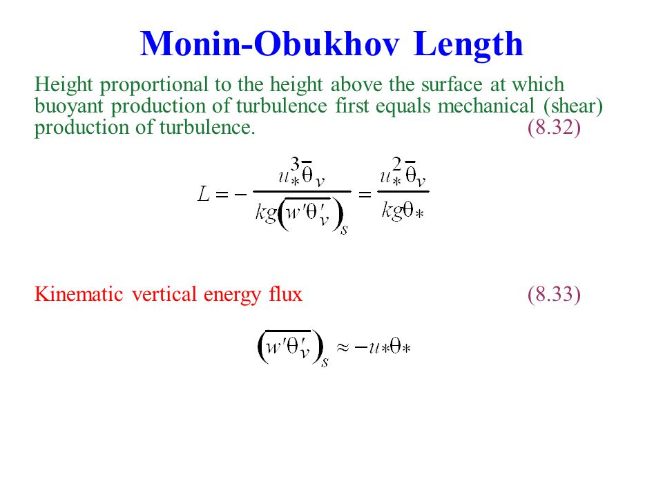Monin-Obukhov Length