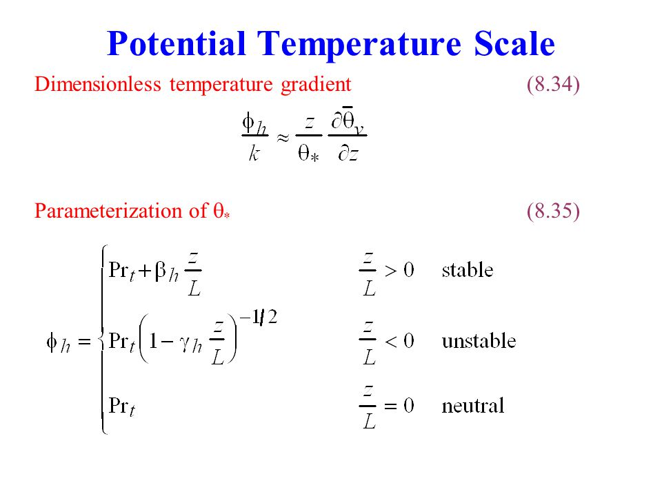 Potential Temperature Scale