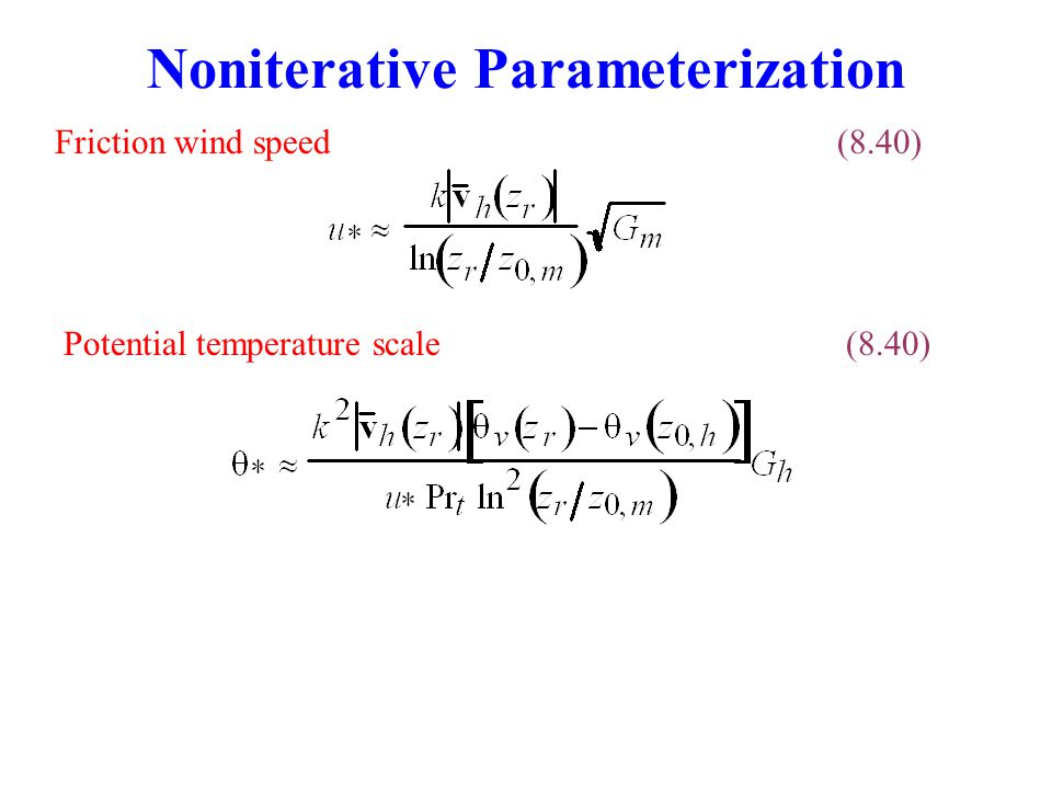 Noniterative Parameterization