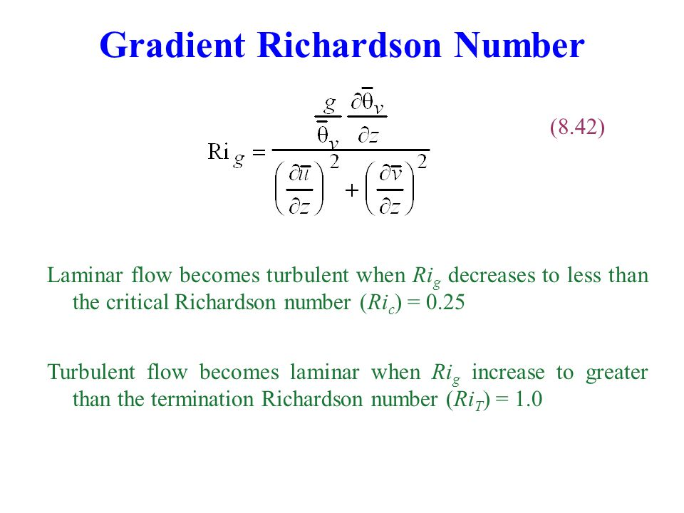 Gradient Richardson Number