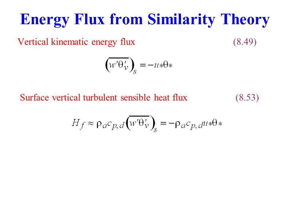 Energy Flux from Similarity Theory