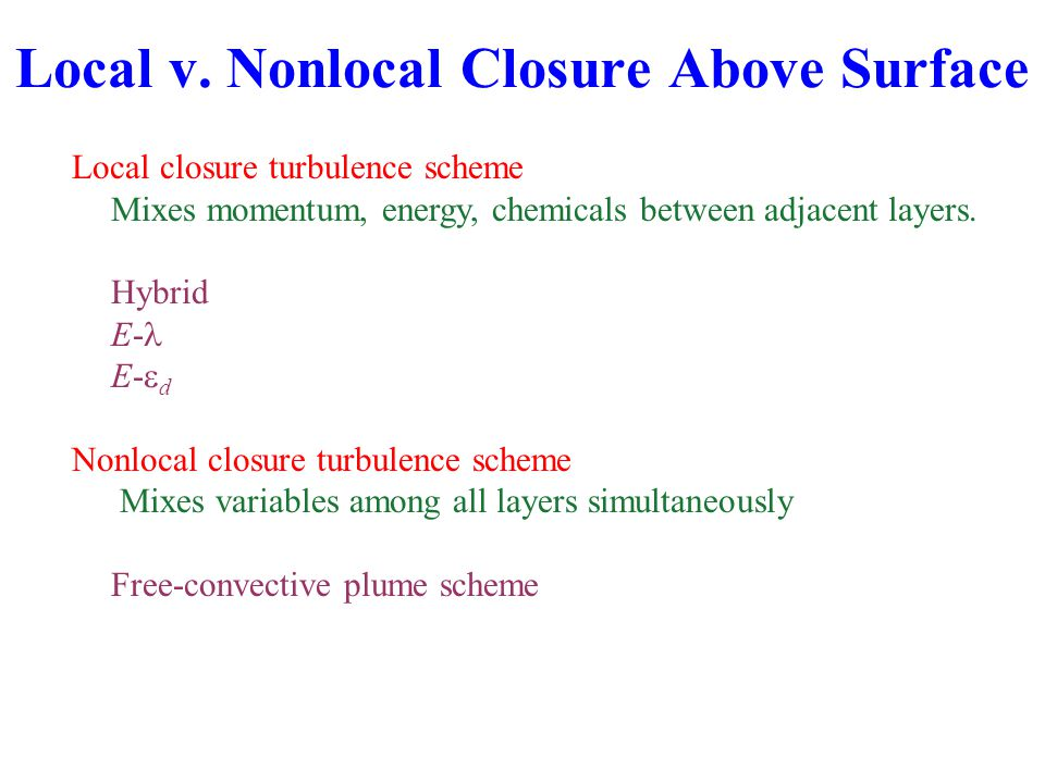 Local v. Nonlocal Closure Above Surface